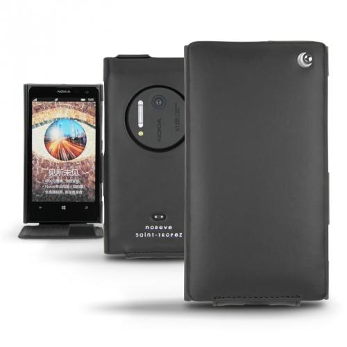 Nokia Lumia 1020  leather case - Noir ( Nappa - Black )