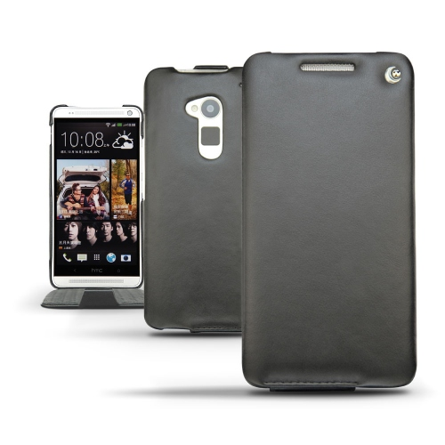 HTC One Max  leather case - Noir ( Nappa - Black )