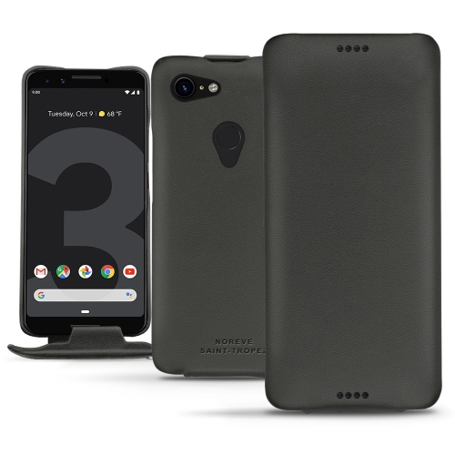 Google Pixel 3 leather case - Noir PU