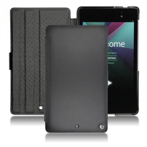 Housse cuir Asus Google Nexus 7 2  - Noir ( Nappa - Black )