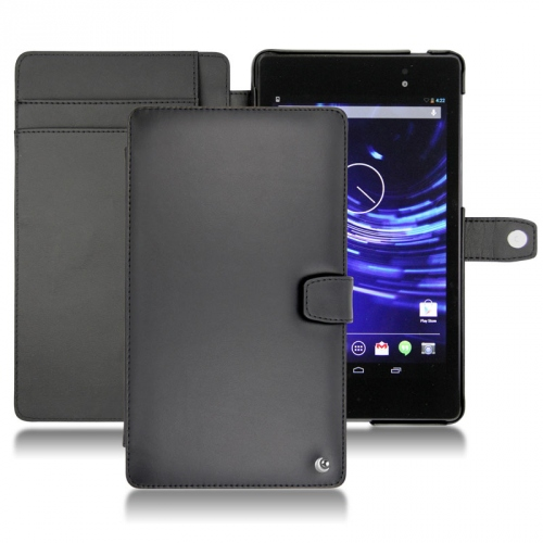 Asus Google Nexus 7 2 leather case - Noir ( Nappa - Black )
