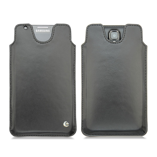 Samsung SM-N9000 Galaxy Note 3 leather case - Noir ( Nappa - Black )
