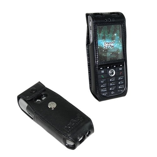 Qtek 8310 - i-Mate SP5 - Dopod 577w  leather case - Noir ( Nappa - Black )