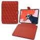 "Apple iPad Pro 11"" (2018) leather case - Papaye - Couture ( Pantone 180C )"