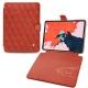 "Apple iPad Pro 11"" (2018) leather case - Arange clouquié - Couture"