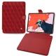 "Apple iPad Pro 12.9"" (2018) leather case - Rouge - Couture ( Nappa - Pantone 199C )"