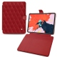 "Housse cuir Apple iPad Pro 12.9"" (2018) - Rouge - Couture ( Nappa - Pantone 199C )"