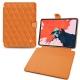 """가죽 커버 Apple iPad Pro 12.9"""" (2018) - Orange - Couture ( Nappa - Pantone 1495U )"""