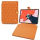 "Apple iPad Pro 12.9"" (2018) leather case - Orange - Couture ( Nappa - Pantone 1495U )"