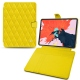 "Housse cuir Apple iPad Pro 12.9"" (2018) - Jaune fluo - Couture"