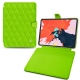 "Apple iPad Pro 12.9"" (2018) leather case - Vert fluo - Couture"