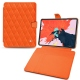"Apple iPad Pro 12.9"" (2018) leather case - Orange fluo - Couture"
