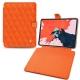 "Housse cuir Apple iPad Pro 12.9"" (2018) - Orange fluo - Couture"