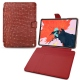 "Apple iPad Pro 12.9"" (2018) leather case - Autruche ciliegia"