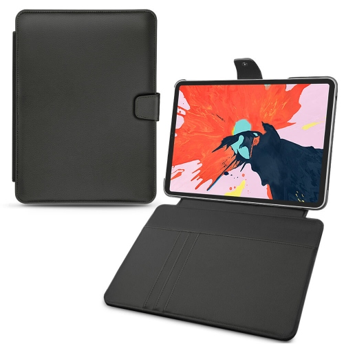"Apple iPad Pro 12.9"" (2018) leather case - Noir PU"