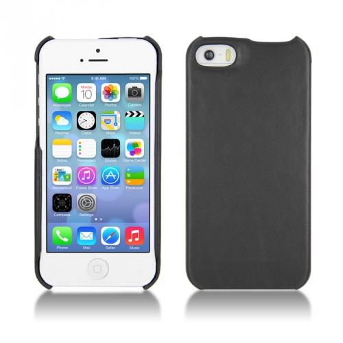 Apple iPhone 5S leather case - Noir ( Nappa - Black )