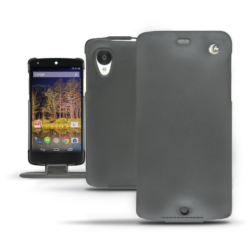 Housse cuir LG Nexus 5  - Noir ( Nappa - Black )