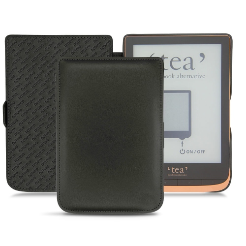 Housse cuir PocketBook Touch HD 3 - Tea Touch HD Plus - Noir PU