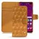 Housse cuir Samsung Galaxy S10+ - Or Maïa - Couture