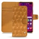 Samsung Galaxy S10+ leather case - Or Maïa - Couture