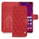 Samsung Galaxy S10+ leather case - Rouge troupelenc - Couture