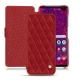 Housse cuir Samsung Galaxy S10+ - Rouge - Couture ( Nappa - Pantone 199C )