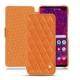 Housse cuir Samsung Galaxy S10+ - Orange - Couture ( Nappa - Pantone 1495U )