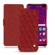 Housse cuir Samsung Galaxy S10+ - Tomate - Couture ( Pantone 187C )
