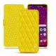 Housse cuir Samsung Galaxy S10+ - Jaune fluo - Couture