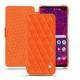 Housse cuir Samsung Galaxy S10+ - Orange fluo - Couture
