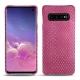 レザーケース Samsung Galaxy S10 - Serpent ciclamino