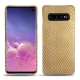 Custodia in pelle Samsung Galaxy S10 - Serpent sabbia