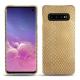 Lederschutzhülle Samsung Galaxy S10 - Serpent sabbia