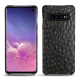 Samsung Galaxy S10 leather cover - Autruche nero
