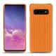 Coque cuir Samsung Galaxy S10 - Abaca arancio
