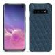 Coque cuir Samsung Galaxy S10 - Indigo - Couture ( Pantone 303U )