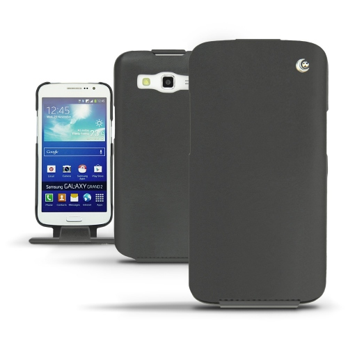 Housse cuir Samsung SM-G7100 Galaxy Grand 2  - Noir ( Nappa - Black )