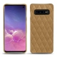 Coque cuir Samsung Galaxy S10 - Sable vintage - Couture