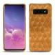 Coque cuir Samsung Galaxy S10 - Or Maïa - Couture