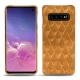 Samsung Galaxy S10 leather cover - Or Maïa - Couture
