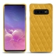 Samsung Galaxy S10 leather cover - Jaune soulèu - Couture