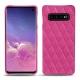 Coque cuir Samsung Galaxy S10 - Rose BB - Couture