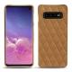 Coque cuir Samsung Galaxy S10 - Castan esparciate - Couture