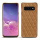 Samsung Galaxy S10 leather cover - Castan esparciate - Couture