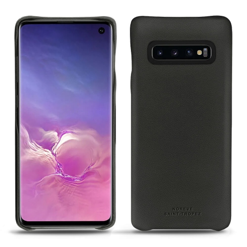 Samsung Galaxy S10 leather cover - Noir PU