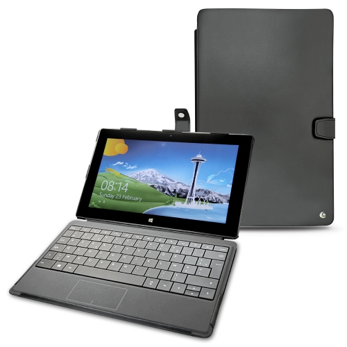Microsoft Surface Pro leather case - Noir ( Nappa - Black )
