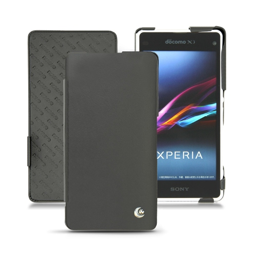 Housse cuir Sony Xperia T2 Ultra - Noir ( Nappa - Black )