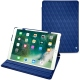 Apple iPad Air (2019) leather case - Bleu océan - Couture ( Nappa - Pantone 293C )