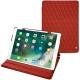 Apple iPad Air (2019) leather case - Papaye - Couture ( Pantone 180C )