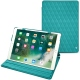 Apple iPad Air (2019) leather case - Bleu fluo - Couture